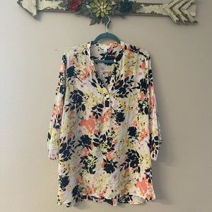 Boutique - floral quarter sleeve tunic